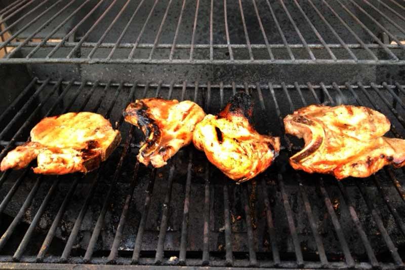 Grilled Honey Pork Chops