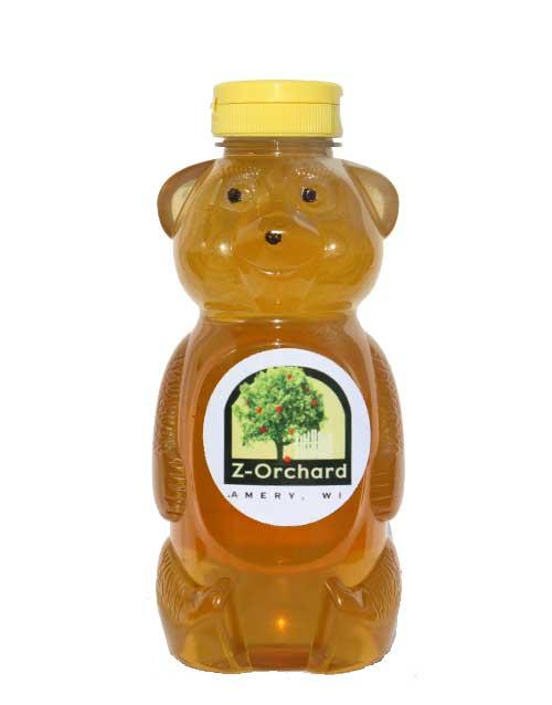 Z-Orchard, Amery Wisconsin, Local Honey Bear 24oz