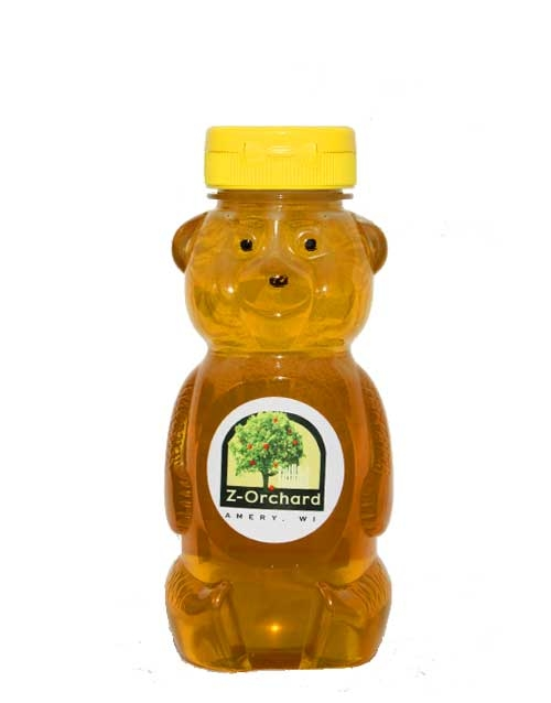 Z-Orchard, Amery Wisconsin, Local Honey Bear 12 oz